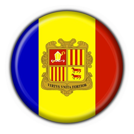 andorra button flag round shape photo
