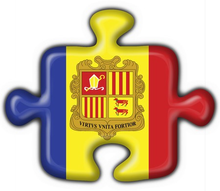 andorra button flag puzzle shape Stock Photo - 4398051