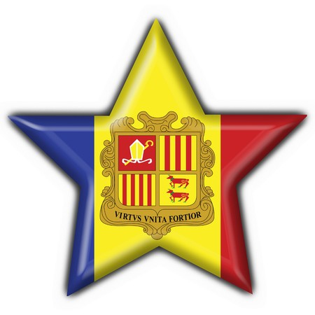 andorra button flag star shape photo
