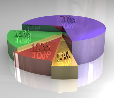 3d pictograph of pie chart Stock Photo