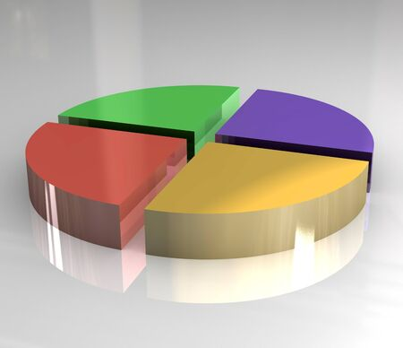 domination: 3d pictograph of pie chart Stock Photo
