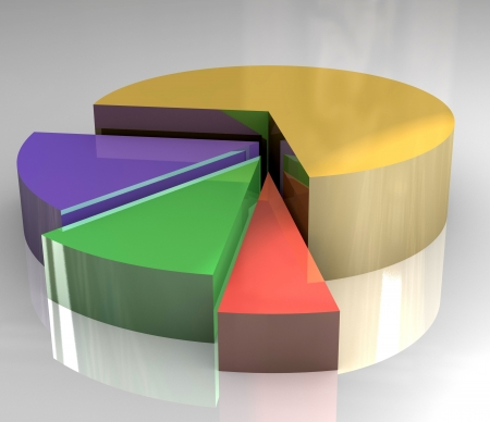 pictograph: 3d pictograph of pie chart Stock Photo
