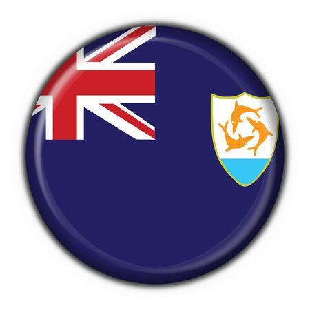 anguilla: anguilla button flag round shape Stock Photo