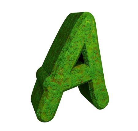 playschool: 3d letter A in green grass