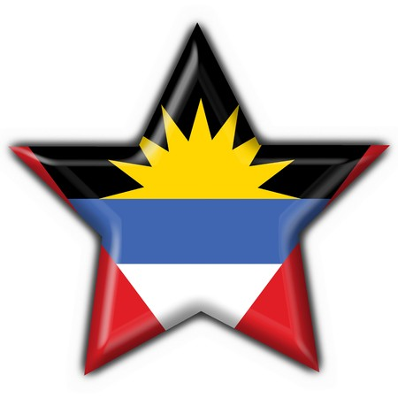 antigua: Antigua and Barbuda button flag star shape