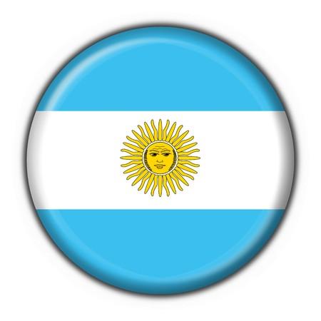 southamerica: Argentina button flag round shape Stock Photo