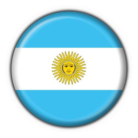 southamerica: Argentina button flag round shape Stock Photo