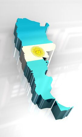 3d made - flag map of Argentina Stock Photo - 4525149