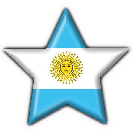Argentina button flag star shape photo