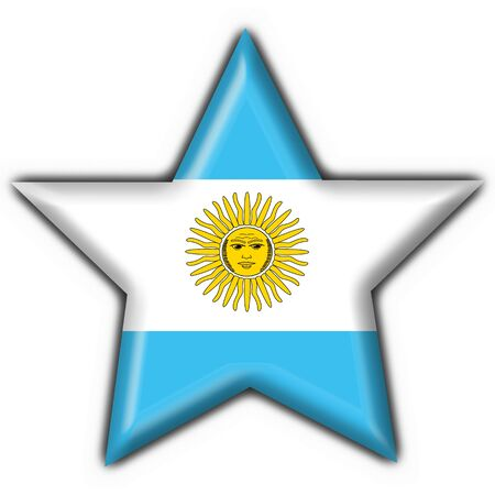southamerica: Argentina button flag star shape
