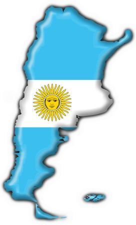 map of argentina: Argentina button flag map shape
