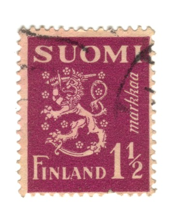 Old stamp from Finland Stock Photo