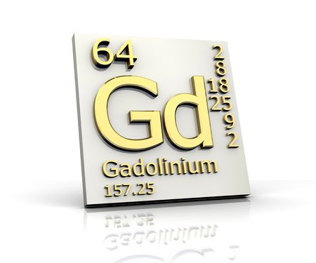 Gadolinium form Periodic Table of Elements photo