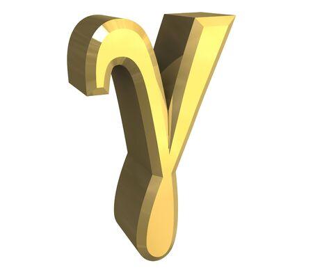 gamma: gamma en el s�mbolo del oro (3d)