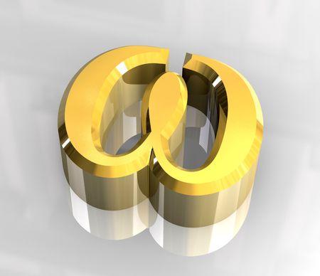 omega: Omega symbol in gold (3d)