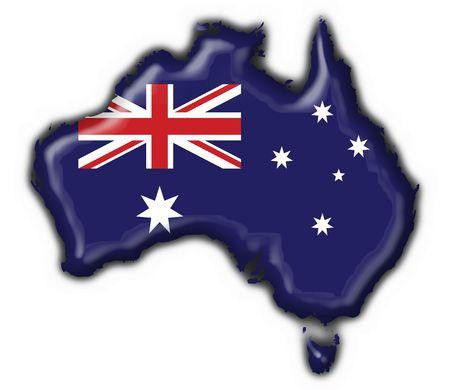 Australian button flag map shape - 3d made photo