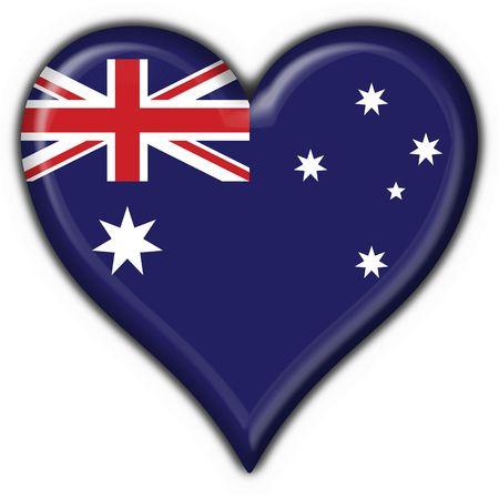 Australian button flag heart shape - 3d made photo