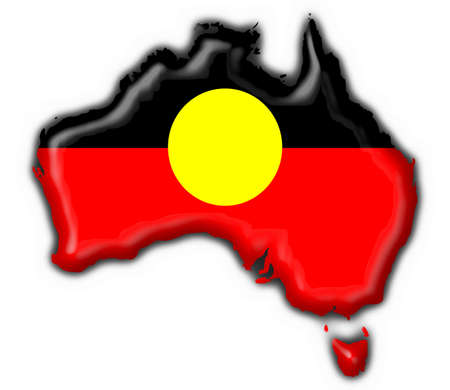 aboriginal: Australian Aboriginal button flag map shape