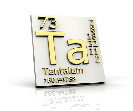 Tantalum form Periodic Table of Elements Stock Photo - 4640468
