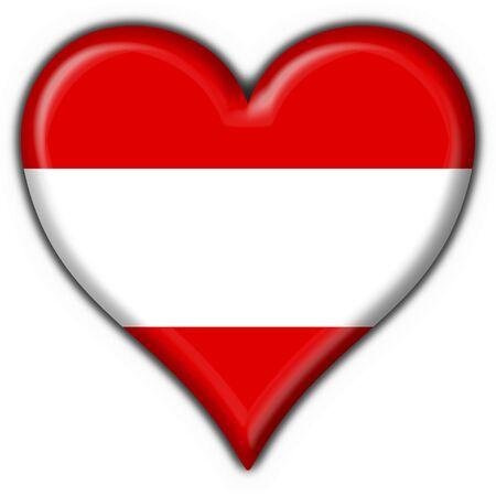 Austrian button flag heart shape Stock Photo - 4671197