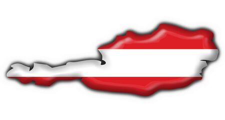 austrian: Austrian button flag map shape Stock Photo