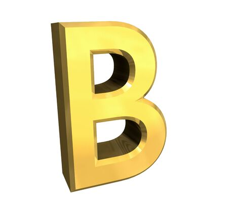 gold letter B - 3d made photo