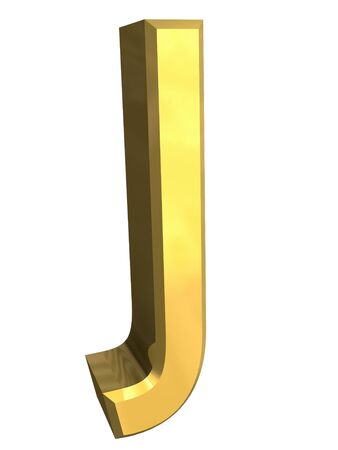 gold letter J - 3d made Stock Photo - 4758288