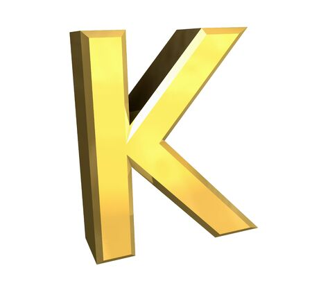gold letter K - 3d made Stock Photo - 4758283