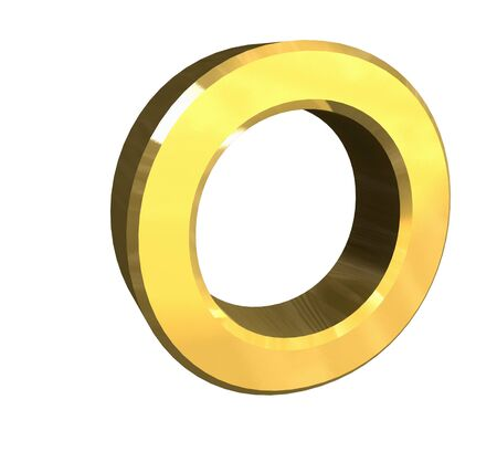 playschool: gold letter O - 3d made Stock Photo