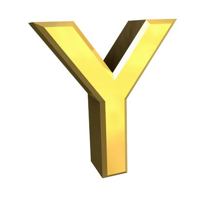 gold letter Y - 3d made Stock Photo - 4758234