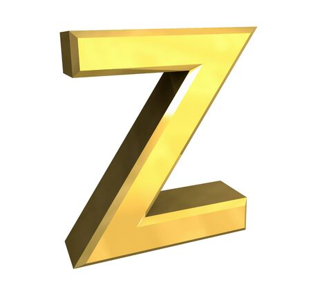 gold letter Z - 3d made Stock Photo - 4758271