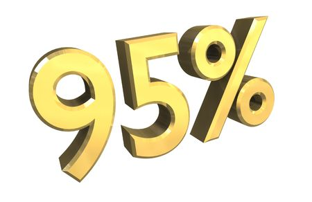 installment: 95 percent in gold - 3d made