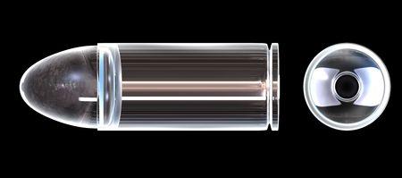 millimetres: 3d bullet made of glass
