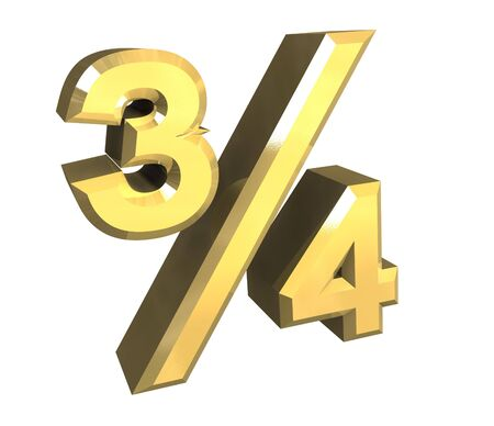 34 tree quarter in gold - 3D