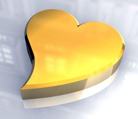 radiosity: golden heart (3D)