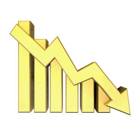 Statistics graphic in gold