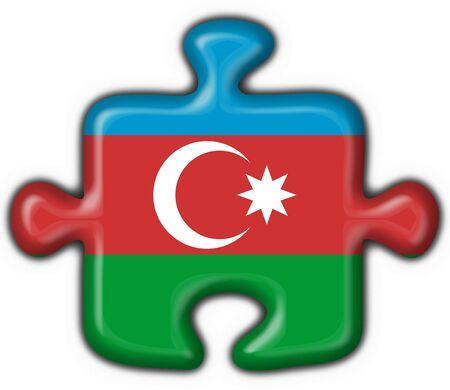 azerbaijan: azerbaijan button flag puzzle shape