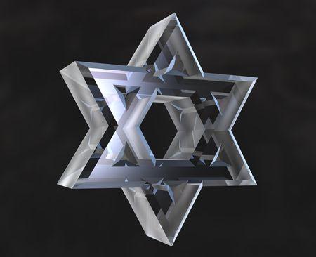 david star: Star of David Symbol in glass - 3d