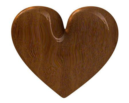 radiosity: heart in wood (3D)