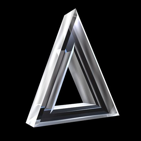 alpha: delta symbol in glass (3d)