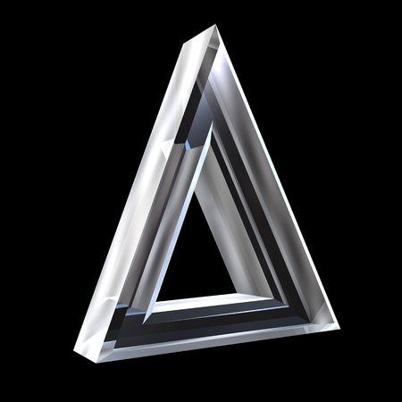 delta symbol in glass (3d) Stock Photo - 6117663