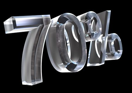 70 percent in glass (3D) Stock Photo - 6120801