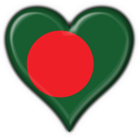 Bangladesh button flag heart shape photo