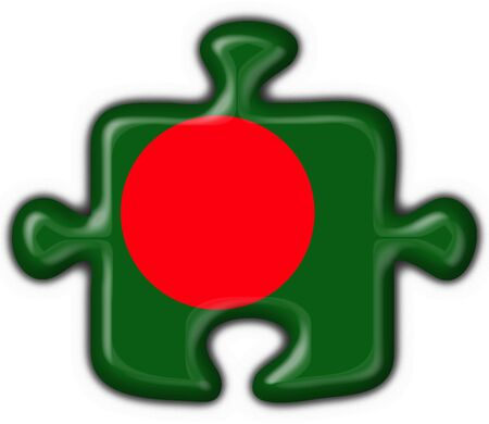 Bangladesh button flag puzzle shape photo