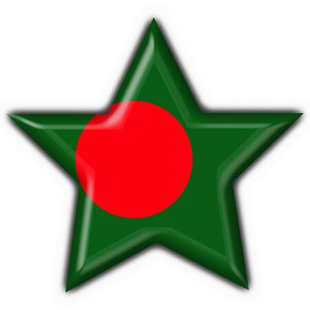 Bangladesh button flag star shape photo