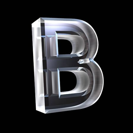 letter B in glass 3D Stock Photo - 6185455