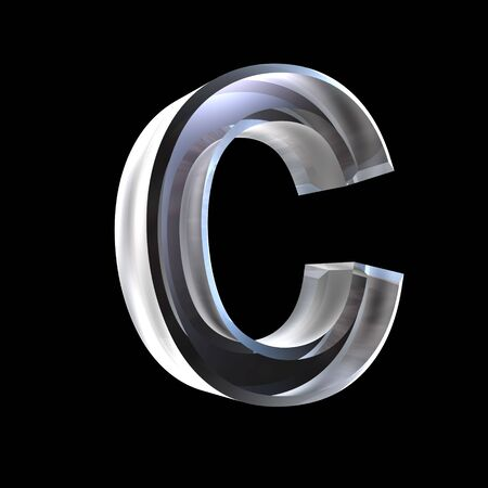 letter C in glass 3D Stock Photo - 6185367
