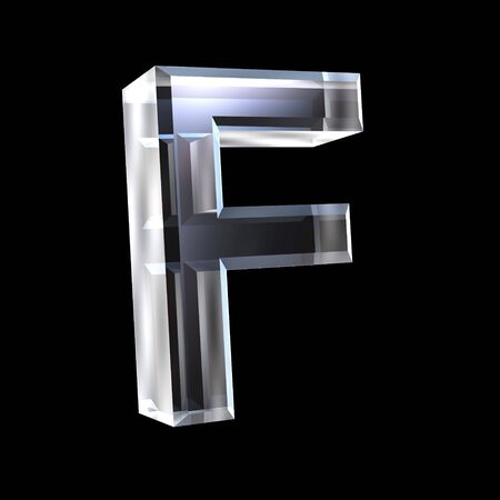 letter F in glass 3D Stock Photo - 6185352