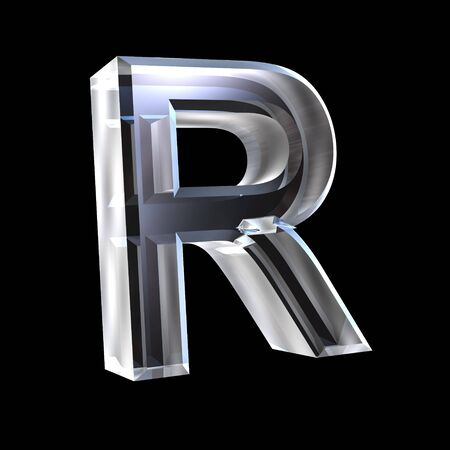 letter R in glass 3D Stock Photo - 6185449