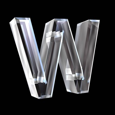 letter W in glass 3D Stock Photo - 6185365